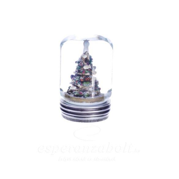 Rázógömb fenyőfával poly 8cm fehér