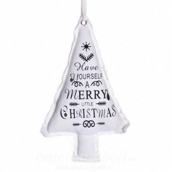 Textil Karácsonyfadísz