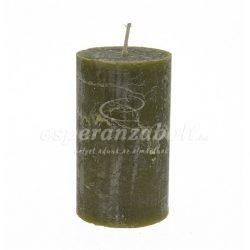 Gyertya henger 7x12cm sötét zöld