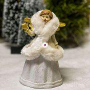 Angyal álló poly 10x8x16,5 cm fehér, arany 2 féle karácsonyi figura