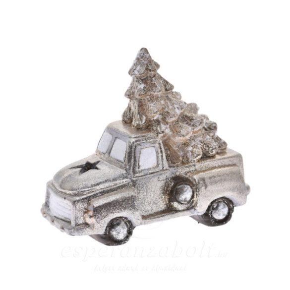 LED Autó fenyőfával kerámia 16*9*14cm arany