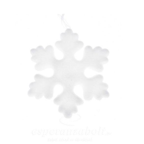 Hópehely polyfoam 21x21x2 cm fehér
