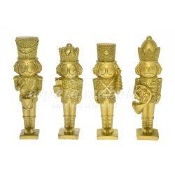 Diótörő poly 16.5cm arany, glitteres 4 féle