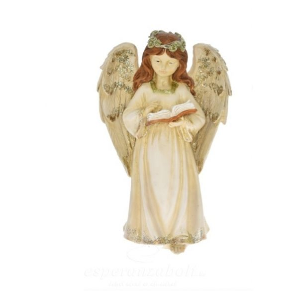 Angyal LED-es álló poly 18x12x30cm antik 2 féle Karácsonyi figura