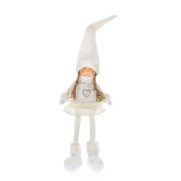 Fiú-lány lógólábú textil 16x10x58 cm fehér