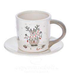 Csésze alátéttel porcelán 10.5x7.5x6.9