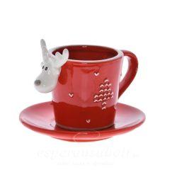 Csésze alátéttel porcelán 12.4x7x8.5