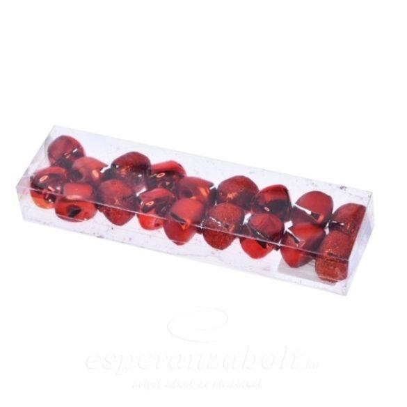 Csengő dobozban fém 2cm piros 18darabos kiszerelés