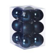 Gömb, dobozban műanyag 6cm olajkék 12db/szett