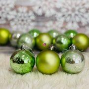 Gömb, dobozban műanyag 6cm türkiz zöld 12db/szett