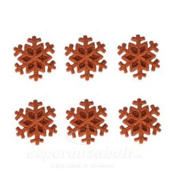 Hópihe ragaszatós glitteres poly 3cm bronz 6db-os kiszerelés