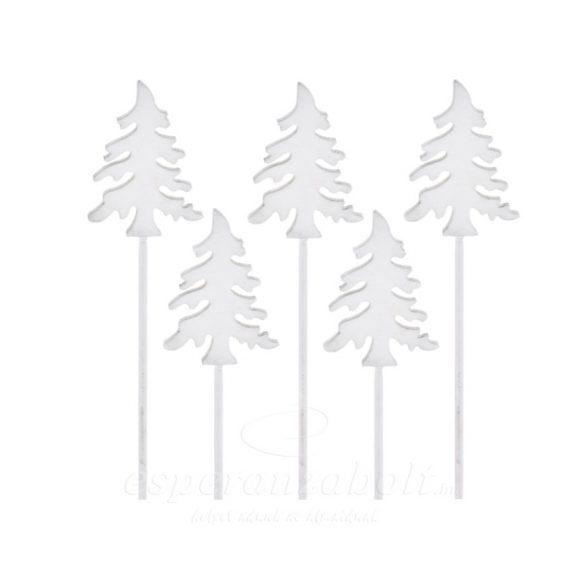 Fenyő betűzős fa 30cm fehér  5db/csomag