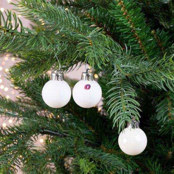 Gömb dobozban műanyag 3cm fehér 3 féle 24db-os kiszerelés