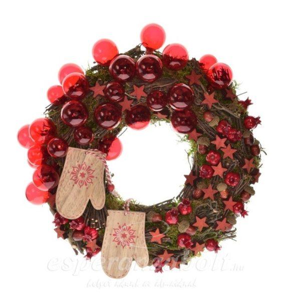 Karácsonyi dekoráció ajtódísz