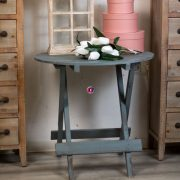 Kerti asztal kerek fa 63x61cm natúr