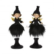 Angyal tollszoknyában poly 6x6x15cm fekete 2 féle karácsonyi figura