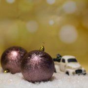 Gömbdísz jeges hatású, műanyag 8cm bordó 6 db-os Karácsonyfa gömb