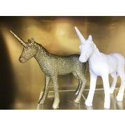 Unikornis poly 16x3,5x15 cm fehér/pezsgő 2 féle karácsonyi figura