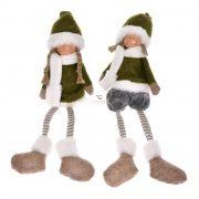 Gyerek ülő textil 13x12x41cm zöld 2 féle karácsonyi figura