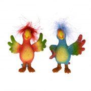 Papagáj álló poly 6.5x9x5.5/8x6x9cm színes 2 féle