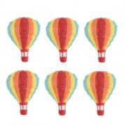 Hőlégballon öntapadós poly 4cm piros,sárga,kék 3 db-os szett