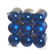 Gömb, dobozban műanyag 5cm sötétkék 3 féle 18 db-os szett