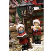 Kandeláber gyerekkel elemes LED poly 16x13,5x52 cm színes 2 féle karácsonyi figura