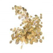 Kereklevelű fényes girland polyester 175x18 cm arany karácsonyi lakásdekoráció