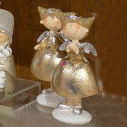Angyal álló poly 8x6x14cm arany 2 féle karácsonyi figura