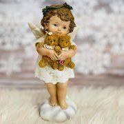 Angyal macival, álló poly 8*6.6*17.7 karácsonyi figura