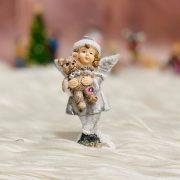 Angyal macival álló poly 5*3.9*9.2 szürke 2 féle karácsonyi figura