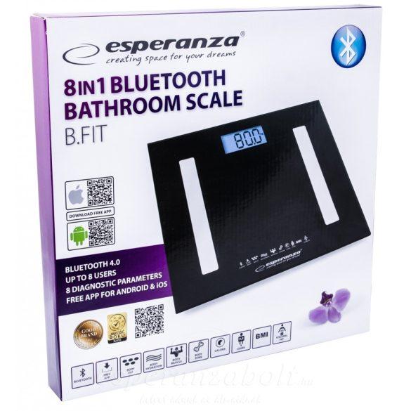 Esperanza B.FIT 8in1 fürdőszobai Okos Mérleg Bluetooth fekete EBS016K