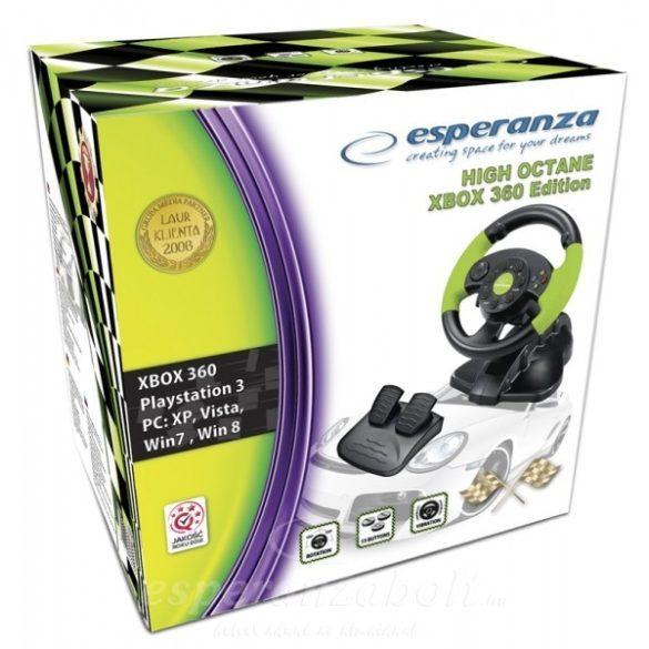 Esperanza HIGH-OCTANE Kormány pedállal Xbox Edition EG104