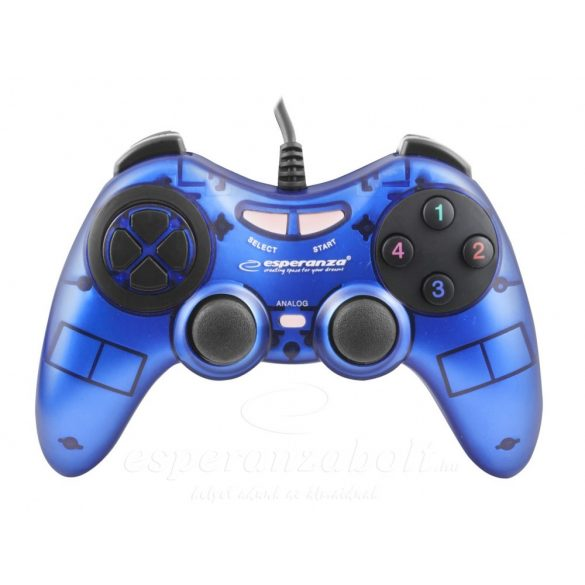 Esperanza Fighter Gamepad PC Kék EGG105B