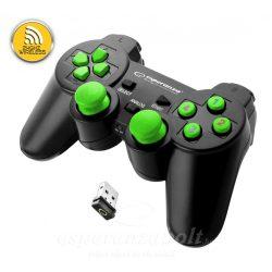 Esperanza Wireless Gamepad 2.4Ghz Ps3/PC Usb Gladiator Black Green
