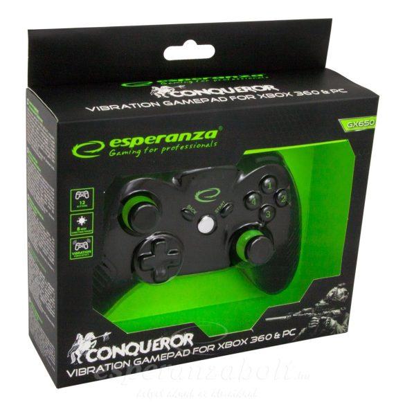 Esperanza Conqueror Xbox 360 Gamepad Controller Xbox360/PC EGG113K