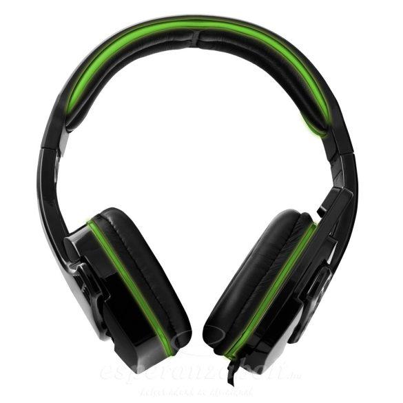 Esperanza Raven Fejhallgató mikrofonnal Zöld EGH310G