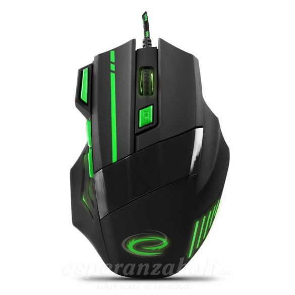 Esperanza Gaming Egér 7D Opt. Usb Mx201 Wolf Green