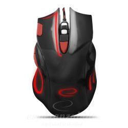 Esperanza MX401 HAWK Fekete-Piros Gamer Egér 7D optikai