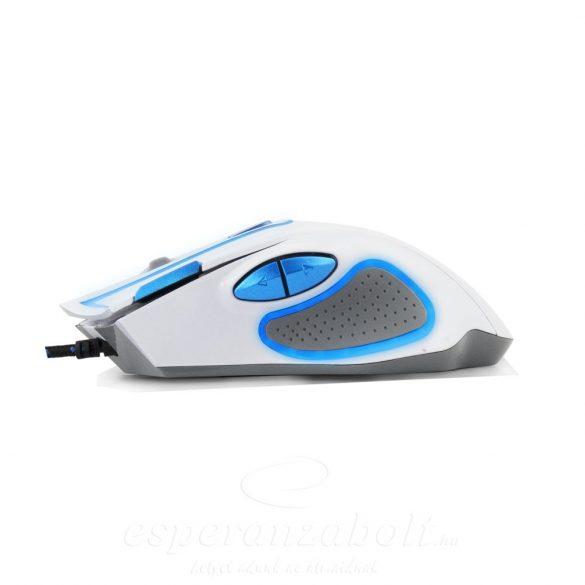 Esperanza MX401 HAWK fehér-kék Gamer Egér 7D optikai