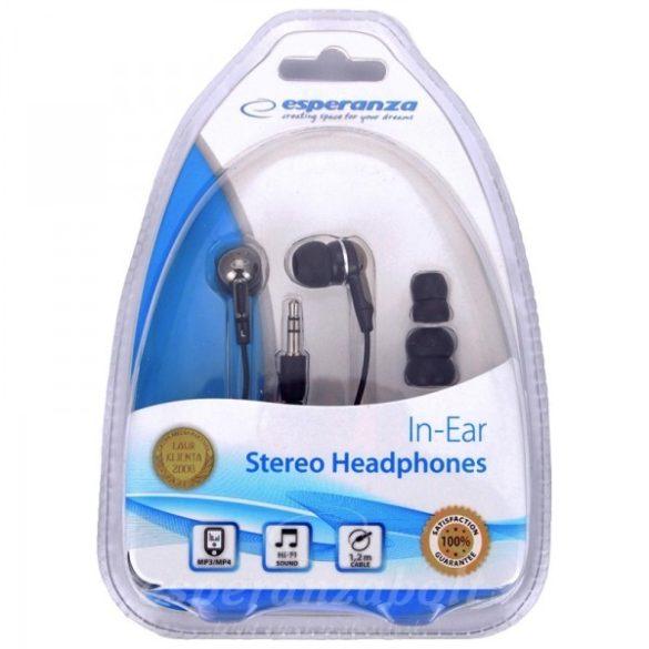 Esperanza fülhallgató fekete-króm EH125