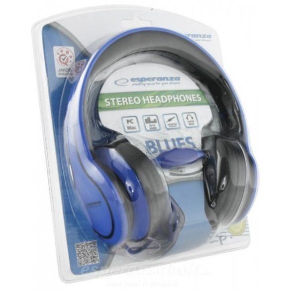 Esperanza Blues Fejhallgató kék EH136B