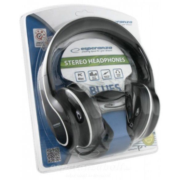 Esperanza Blues Fejhallgató fekete EH136K