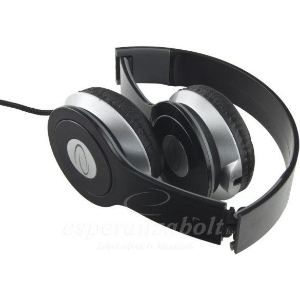 Esperanza Techno Fejhallgató fekete EH145K