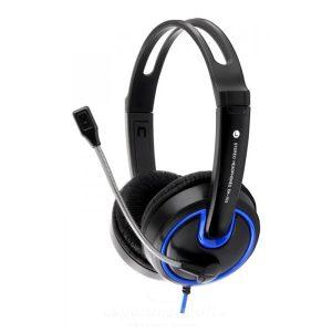 Esperanza Hornet Fejhallgató Mikrofonnal kék EH153B