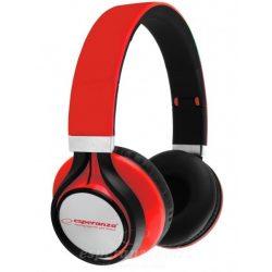 Esperanza Freestyle Fejhallgató piros EH159R