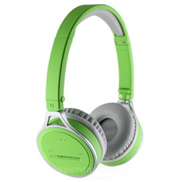 Esperanza Flores Bluetooth Fejhallgató zöld EH160G
