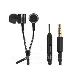 Esperanza Zipper fülhallgató mikrofonnal Headset fekete