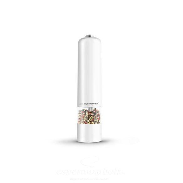 Esperanza Malabar Fűszer só, bors örlő fehér EKP001W