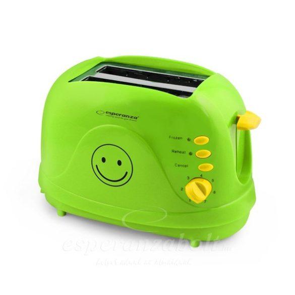 Esperanza Kenyérpirító Smiley Green